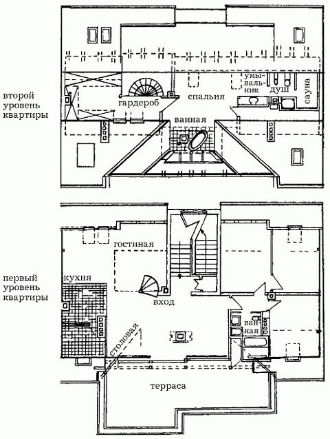 Рис 164 план двухэтажной мансарды